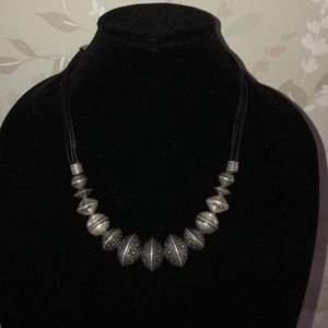 Chico's Silver Beaded Necklace